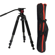 25kg Payload 701B Carbon Fiber Moveable Skilled Tripod Legs with Fluid Head MYT802 for Video Digital camera Capturing