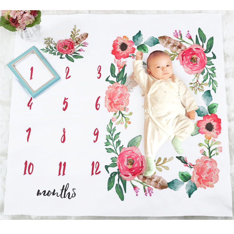 HTB1YmPga2vsK1RjSspdq6AZepXaM Cute Baby Play Mats Infant Portray Blanket Infant Milestone Photo Props Background Cloth Kids Bed Room Decor Photo Accessories