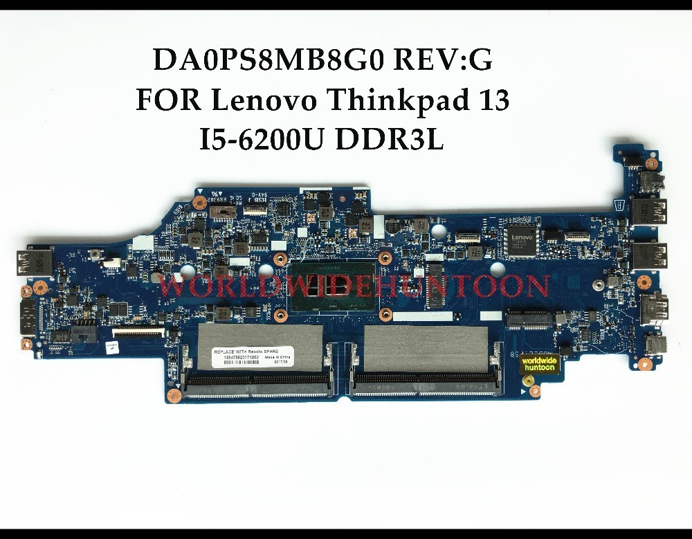 US $193 5 10% OFF|High quality DA0PS8MB8G0 for Lenovo Thinkpad 13 Laptop  Motherboard SR2EY I5 6200U DDR3L 100% Fully Tested&Free shipping-in