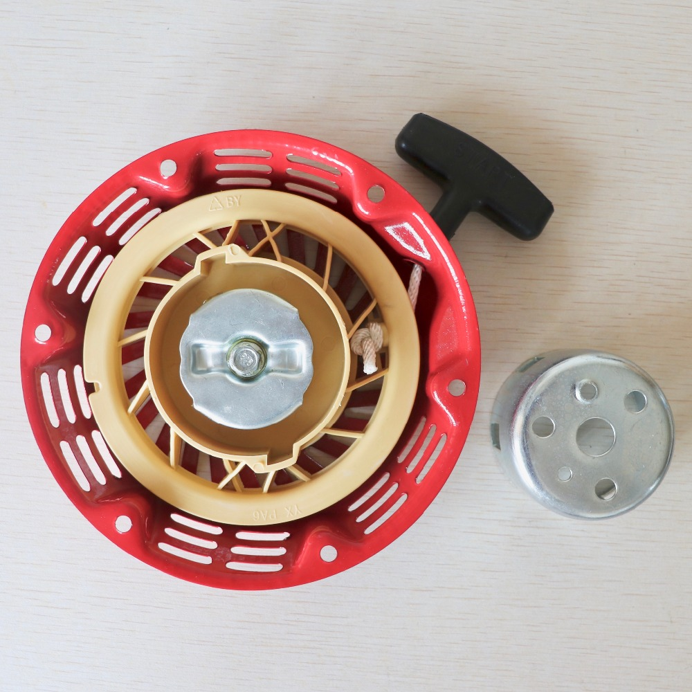 168F starter(iron) for 2KW gasoline generator starter with one piece of cup 430 40 5 brush cutter trimmer easy starter with one piece of two pawl pulley