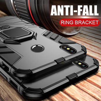 Armor Ring Case For Xiaomi Redmi Note 7 case Magnetic Car Hold Shockproof Soft Bumper Phone Cover For Redmi Note 6 Pro Case