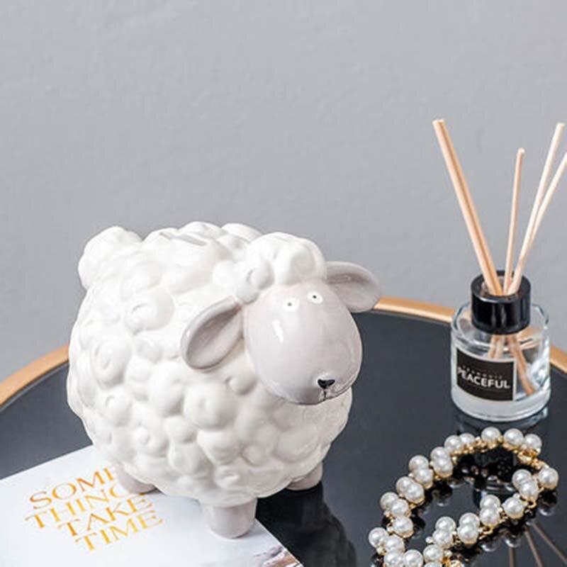 NYAA scandinave vent chambre d'enfants en céramique mouton économies canettes Ins maison décorations créatives chevet décorations