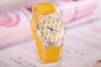 часы золото женский хиоки освежающий лето сладкие фрукты со льдом арбуз серии дамы кварцевые прозрачные пластиковые часы оптовая продажа