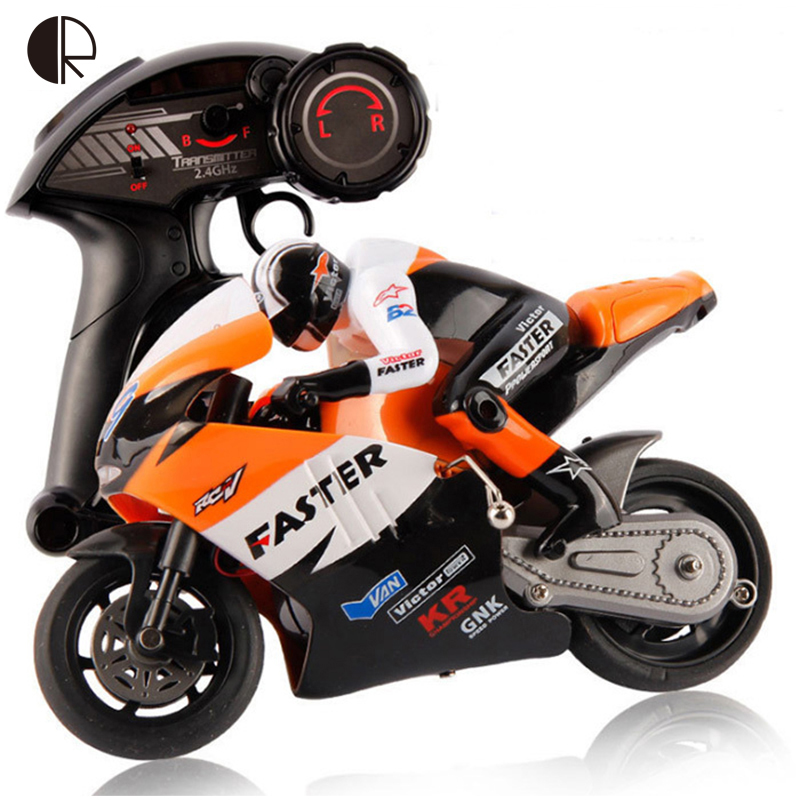 RC Motorcycle Toys For Kids New Style Plastic 4 Channel With Light & Music Remote Control Motorbicycle Drop Shipping HT2263