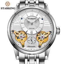 f0521b923b7 STARKING Grande Relógio de Moda Homens Relógios Em Aço Inoxidável Relógio  Mecânico Auto-vento Automático