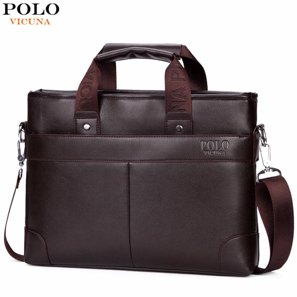 VICUNA font b POLO b font Promotional font b Mens b font Briefcase Casual Business font