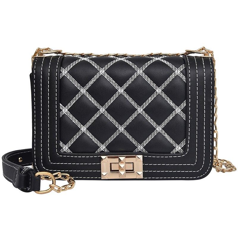 New geometric lingge envelope handbag women clutch ladies purse crossbody messenger shoulder bags Free Delivery