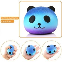 9cm Cute Star Teeth Panda Bread Squishy Slow Rising Xmas Decor Cute Jumbo Squeeze Stress Stretch Bread Kids Toy Gift 4Styles(China)