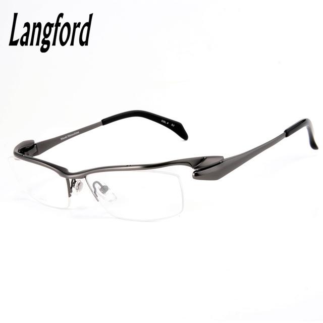 De alta gama pure titanium anteojos hombres marco óptico gafas de marco marcos de anteojos eyeware diseños browline agilizar gafas