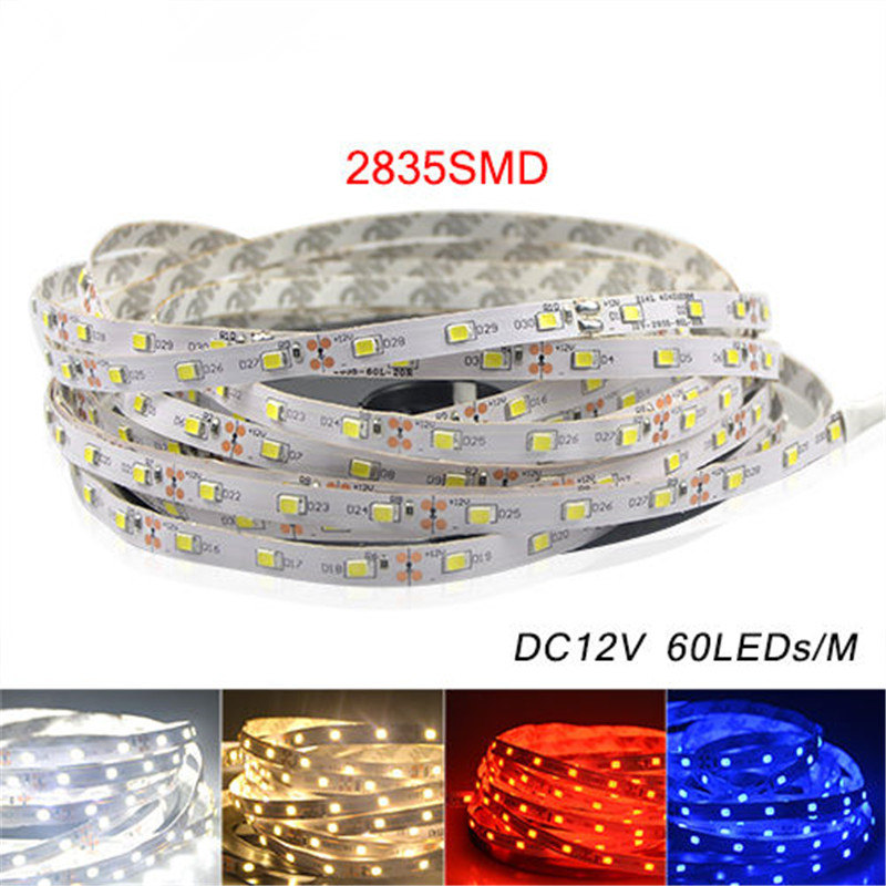 5M 2835 RGB LED Strip Light 300 LEDs DC 12V Red Green Blue Warm White Cool White Flexible SMD 2835 LED Diode Ribbon Tape Lamp 30cm blue lights flexible led strip light ribbon waterproof smd 15 leds car auto decoration tape shakeproof eagle eye fog lamp