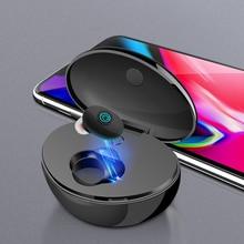 אלחוטי Bluetooth אוזניות ספורט אוזניות סטריאו באוזן אוזניות מיני דיבורית אוזניות עם מיקרופון 400mAh כוח בנק עבור Smartphone