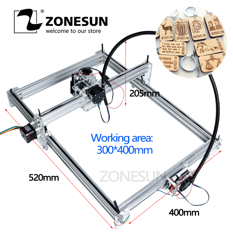 ZONESUN 7000MW AS-3 Big Work Area 30*40cm DIY Laser Mcahine Laser Engraving Machine CNC Laser Machine Advanced Toys Best Gift