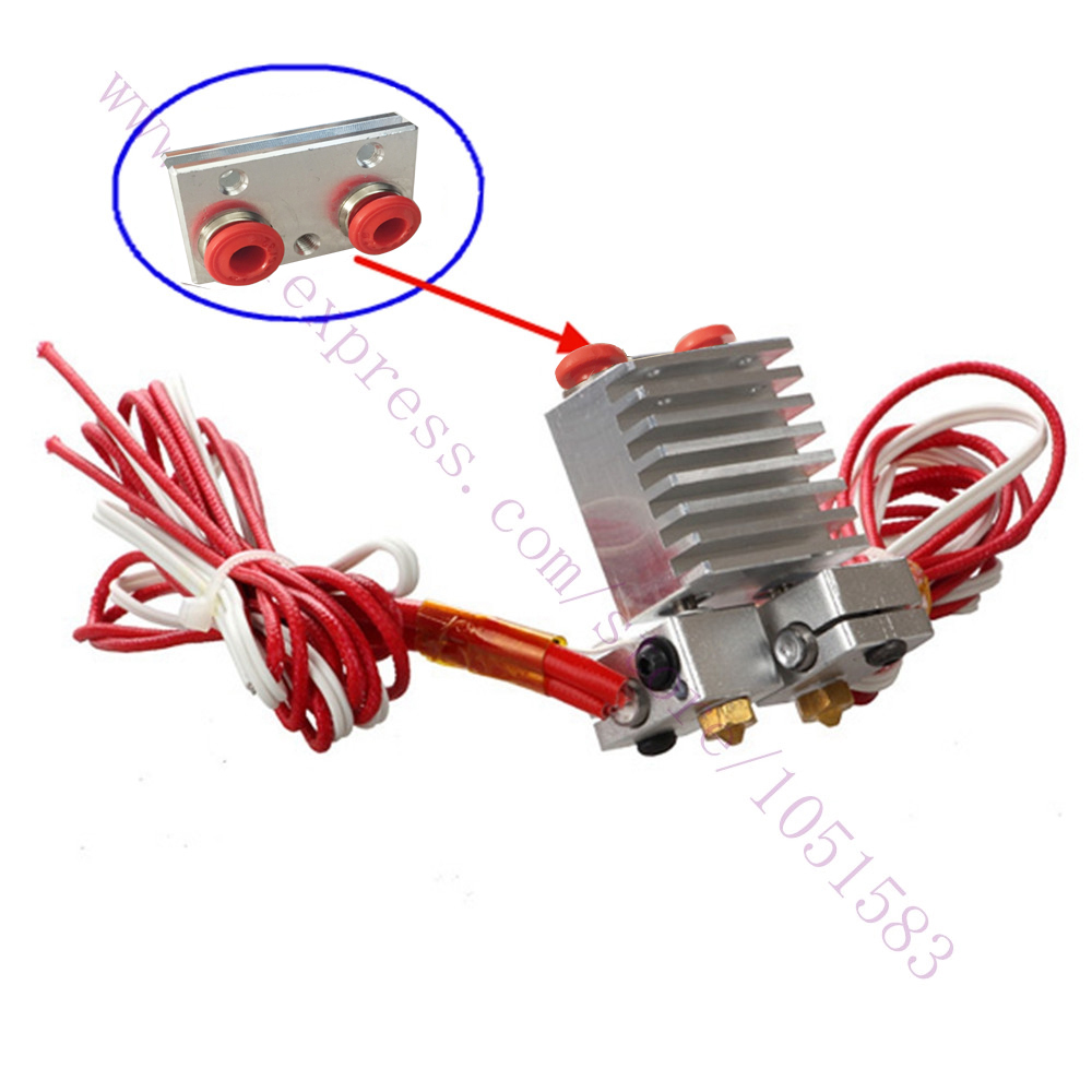 Chimera Extruder with Wires -  Multi-extrusion V6 Dual Head Extruder HotEnd, 0.2/0.3/0.4/0.5mm Nozzle optional , 1.75mm кровельный саморез с шайбой epdm kenner цинк 6 3х38 150шт ск6338ф