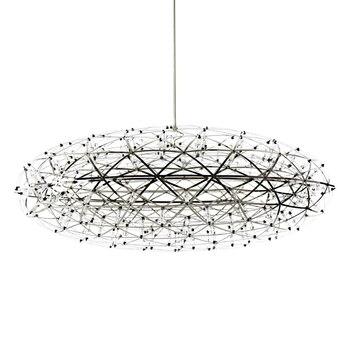 Ovale vorm Dia.75cm moderne hanglamp Toolery creatieve opknoping licht vuurwerk rvs 276 stks led kraal droplight