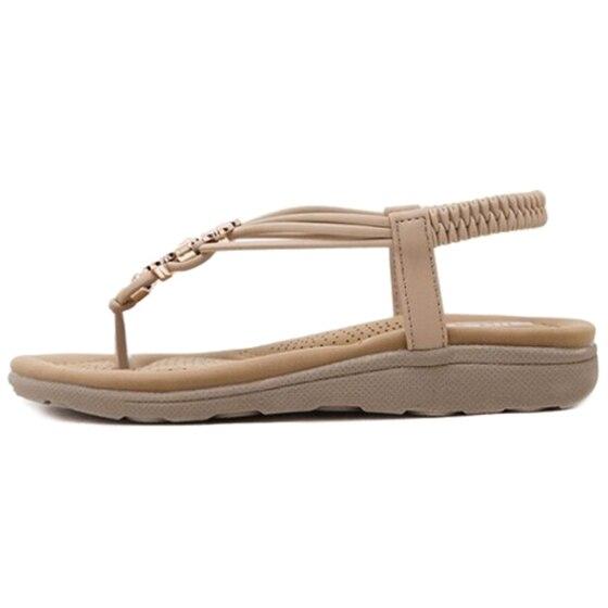 Dames Flip Chaussures apricot Femmes Sandales Occasionnels Black Flops Siketu Bohême D'été Plat Plage ZTBgwXqAw