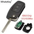 Автомобильный ключ WhatsKey с 3 кнопками и дистанционным управлением  315/433 МГц  4D63  чип HU100  чехол-брелок для Ford Focus 2 3 Mondeo Fiesta