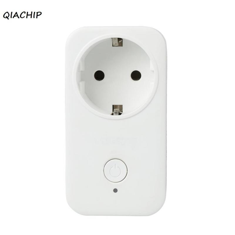 QIACHIP Smart Wifi Socket Switch  EU Plug Wireless Remote Control Socket Outlet Timing Switch via APP for Smart Home Automation inqmega wireless wifi socket app remote control smart wifi power plug timer switch wall plug home appliance automation eu style