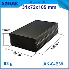 1 piece free shipping black aluminium extrusion enclosure electronic switch box  31*72*105mm