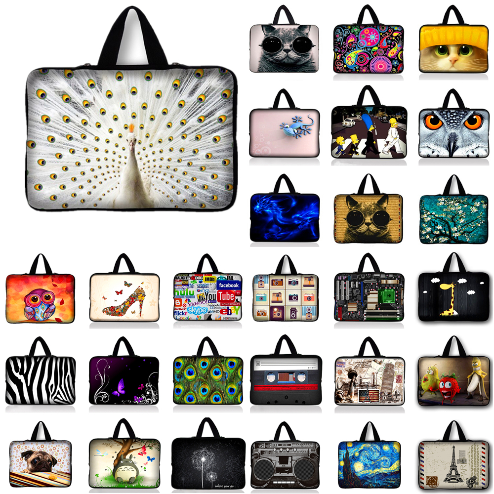 7 10 10.1 11.6 12 13 14 15.4 17.3 inch Laptop Case Bag Notebook Sleeve PC Pouch For 17.4 15.6 13.3 Dell HP ASUS #Q