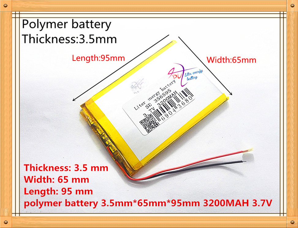 3 7V 3200mAh Lithium Tablet polymer battery for Tablet PC MID PDA 356595 SD356595