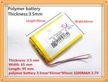 3.7 V 3200 mAh batería de polímero de Litio de la Tableta para la Tableta PC/MID/PDA (356595) SD356595