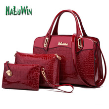 NLT fashion women lady bag top handle bag style hot sale patent leather shoulder solid bag