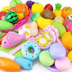 Новый резка фрукты овощи игрушка ролевые игры кухня игрушки для игрушечного домика миниатюрный пластик пособия по кулинарии еда дети