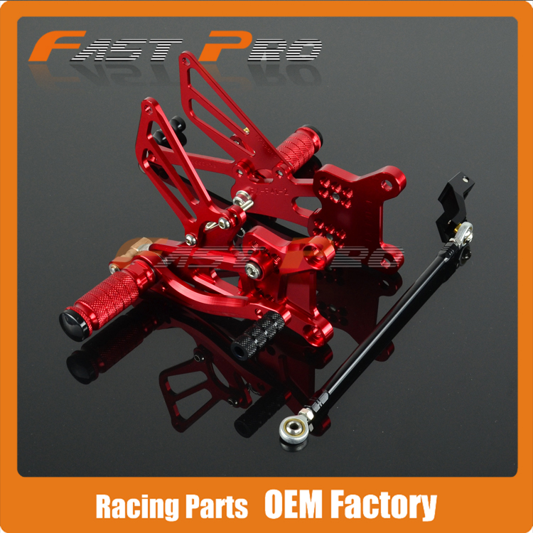CNC Motorcycle Adjustable Billet Foot Pegs Pedals Rest For HONDA CBR600 CBR 600 CB600RF4I F4I 2001 2002 2003 2004 2005 2006
