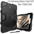 Top Quality Heavy Duty Hybrid Silicone Cover for Samsung Galaxy Tab E T560 T561 9.6 inch Tablet Funda Case+Free Stylus Pen