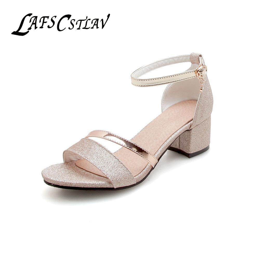 LAFS CSTLAV Basic Med peta 5cm Udobne sandale Ženske Odprto Toe - Ženski čevlji