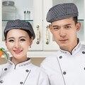 High Quality Chef Hats Restaurant Hotel Kitchen Cooking Cap Waiter Uniform Beret Cafe Bakery Waiter Waitress Working Cap
