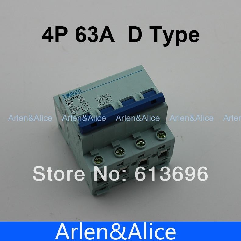 4P 63A D type 240V/415V  Circuit breaker MCB 4 POLES4P 63A D type 240V/415V  Circuit breaker MCB 4 POLES