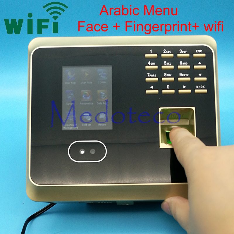 Arabic Menu Face Time Attendance Fingerprint Time Attendance tcp/ip+wifi Biometric Face Time Recording Attendance System zk iface701 face and rfid card time attendance tcp ip linux system biometric facial door access controller system with battery