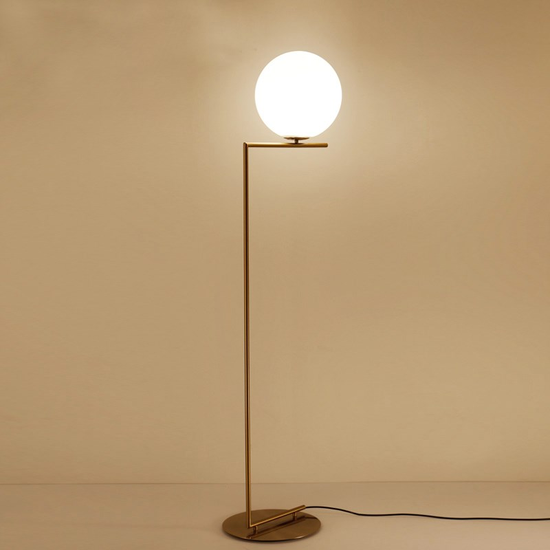 Modern White Glass Globe Shade Light D30cm Floor Lamp Gold Desk Lamps For Reading Bedroom Living Room Home Floor Lighting Fa009 Floor Lamps Aliexpress