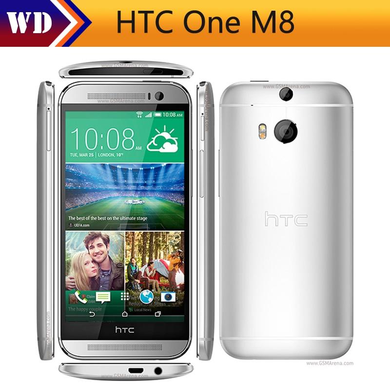 bilder für Original Entsperrt HTC One M8 Handy 5 ''Quad Core 16 GB 32 GB ROM WCDMA 4G LTE 2 Kameras Smartphone