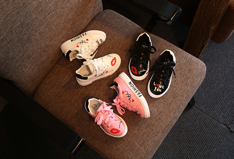 COZULMA Girls Boys Casual Shoes Sneakers 17 Children Sport Shoes Baby Boys Shoes Kids Letters Lace-Up Running Shoes Sneakers 3