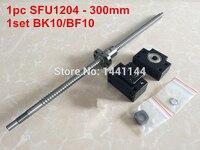 1pcs Ball Screw SFU1204 L 300mm 1pcs Ballnut 1 Set BK10 BF10 Support CNC