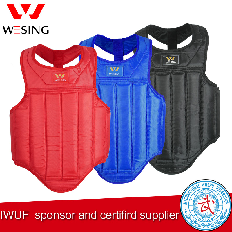 Wesing Sanda Martial Arts Borst Guard Boxing Borst Guard MMA Muay Thai Borst Protector Borst Guard Plus Size2XL