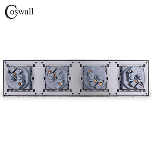 Image 5 - COSWALL 4 Gang Wall Power Socket Grounded 16A EU Standard Quadruple Outlet With Childen Protective Door PC panel