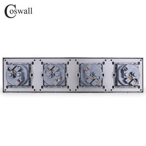 Image 5 - Coswall 4 Gang Stopcontact Geaard 16A Eu Standaard Quadruple Outlet Met Kinderpark Beschermende Deur Pc Panel