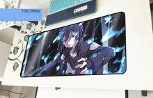 Sword Art онлайн геймерский коврик для мыши 700x300x3 мм игровой коврик для мыши очаровательные аксессуары для ноутбуков ПК ноутбук padmouse эргономичный коврик