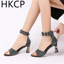 HKCP Sandals ladies 2019 new Andromeda monocoque high heels go with chunky high-top Roman womens shoes C076