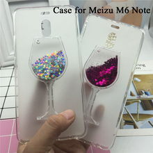 Glitter Quicksand Phone Cases for Meizu M6 Note Case Bling Cute Srtars Cup With Soft Silicon Back Cover 3D Capa ojeleye fashion black silicon case for meizu meilan 6 cases anti knock phone cover for meizu m6 m711q m711c covers