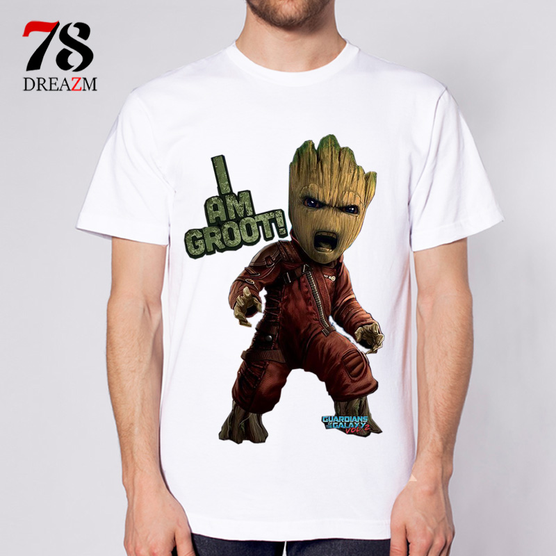 Guardians of the Galaxy 2 t Shirt Anime baby funko groot funny Men T-shirt New Print TShirt Mens top Print clothing
