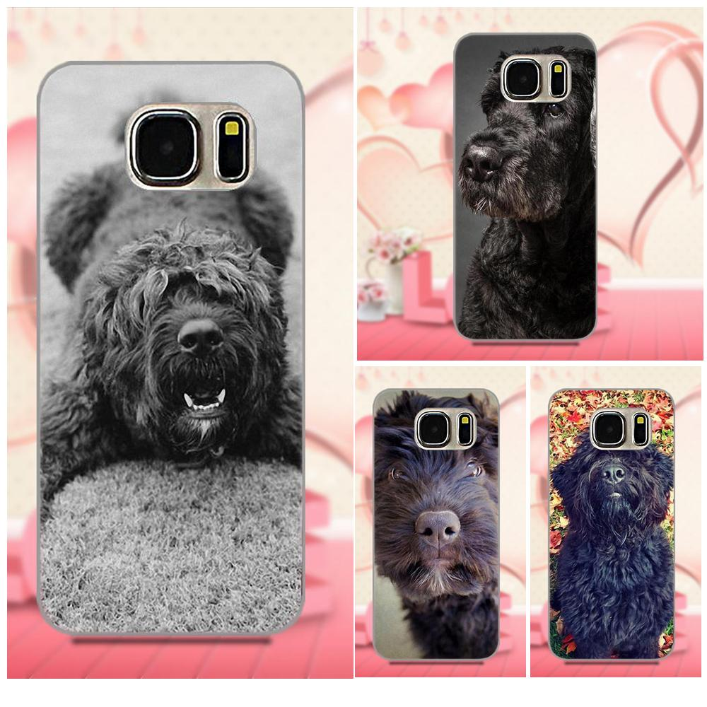 TPU Mobile Phone Cases For Galaxy A3 A5 A7 J1 J3 J5 J7 S5 S6 S7 S8 S9 edge Plus 2016 2017 Bouvier Des Flandres Dog Puppies standard schnauzer
