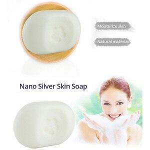 Image 2 - ננו כסף עור סבון ניטראלי PH להקל על עייפות צמח ארומה לחות עור פנים ניקוי עיקור אנטיבקטריאלי