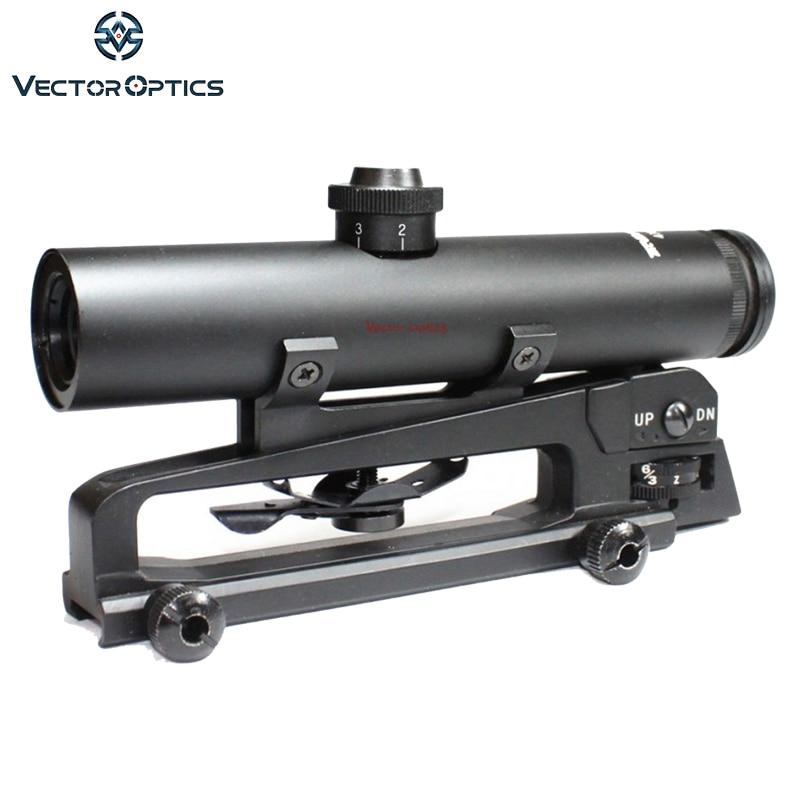 TAC Vector Optics 4x22 AR .223 5.56 Carry Handle Compact Riflescope ShockProof Electro GunSight антенна vector ar 01b