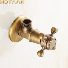 Античный латунный треугольный клапан, водопроводный клапан для ванной комнаты 1/2*1/2, латунные угловые клапаны, YT-5182