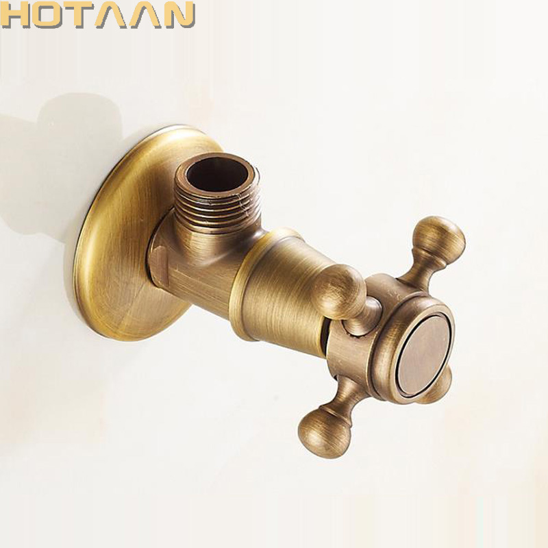 Free Shipping Antique Brass Triangle Valve Water Control Valve Bathroom Tap Water Valve 1/2*1/2 Brass Angle valves ,YT-5182 phasat 4411 retro style copper triangle valve antique brass