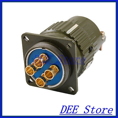 5.5mm Dia. 4 Pins Aviation Circular Connector Plug AC 500V 100A Y36M-4TK y2m 37tk ac 300v metal shell 37 pins circular connector